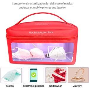 Esterilizador de cajas UV para uñas, esterilizador multifunción, herramientas de desinfección, máscaras de teléfono, bolsa de almacenamiento portátil para limpieza de joyas