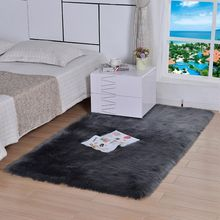 Winter new imitation wool rug living room bedroom soft plush bedside mat coffee table sofa plush carpet decoration home rug(China)