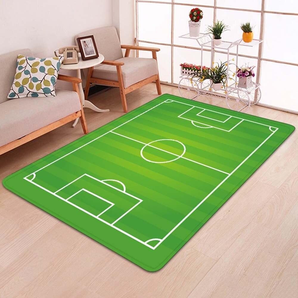 Football Field Pattern Carpet For Living Room Non-Slip Bedroom Floor Mat Soft And Comfortable Home Kids Room Decoration 50*80cm