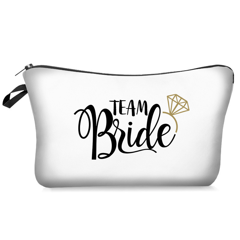 Bride Tribe To Be Makeup Bag Clutch Gifts Storage Bag Cosmetics Pouchs For Toiletry Bag Ladies Beauty Case Women Cosmetic Bag