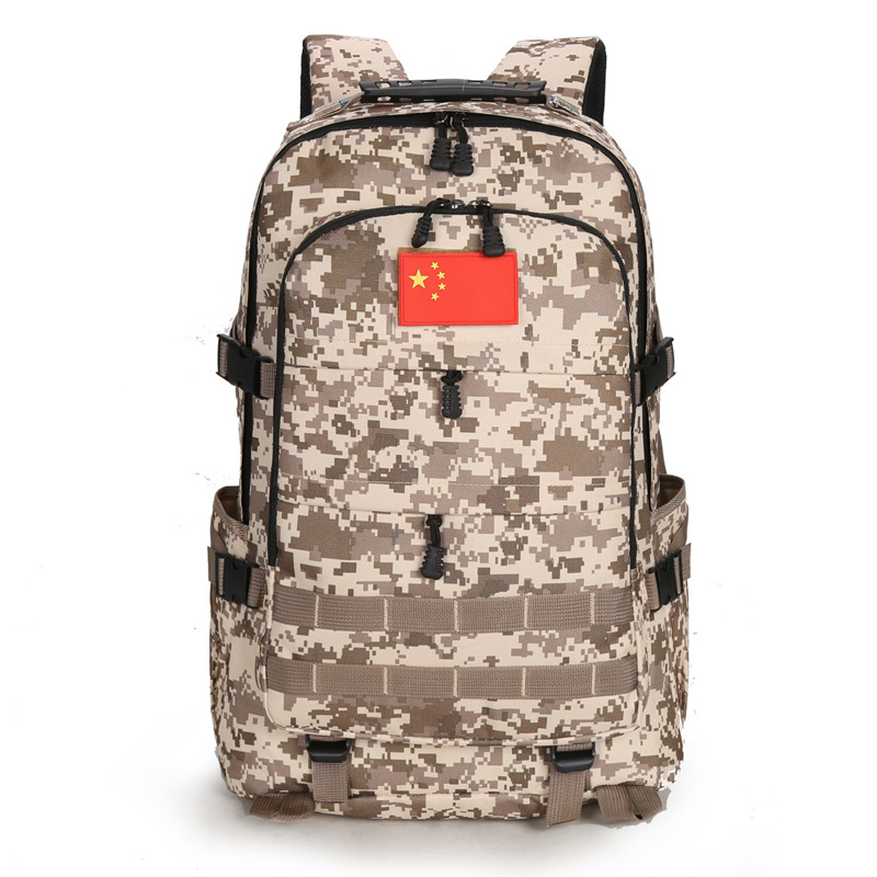 New Style Outdoor Backpack Mountaineering Bag Men's Backpack School Bag Camouflage Backpack Multi-functional Travel Computer Bag