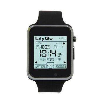 LILYGO®Ttgo T-Watch-2020 Esp32 Chip Principal 1.54 Polegada Display De Toque Programável Wearable Interação Ambiental