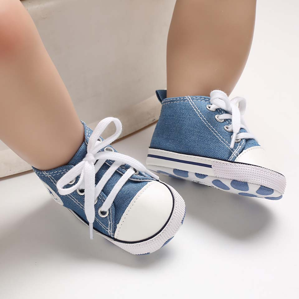 0-18M Unisex Baby Sneakers Canvas Casual Toddler First Walker Soft Soled Baby Girls Sport Shoes Newborn Boys Anti-slip Prewalker