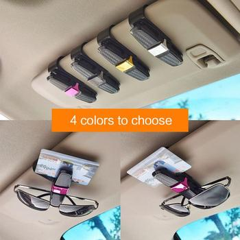 Portable Car Glasses Cases Ticket Card Clamp Car Sun Visor Sunglasses Holder ABS Eyeglasses Auto Accessories image