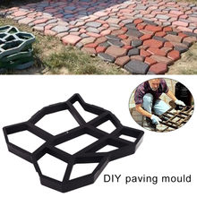 DIY Paving Mould Home Garden Floor Road Concrete Stepping Driveway Stone Path Mold Patio Maker Black Plastic Making(China)