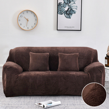 14 Colors Warm Thick Plush Recliner Sofa Covers Retro Recliner Sofa Cover for Living Room Soft Couch Slipcovers 1/2/3/4 Seaters