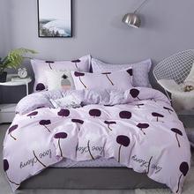 Pink Plant Duvet Cover 220x240 Pillowcase 3Pcs Bedding Set Quilt Cover 200x200 175x220 Bed Cover Blanket