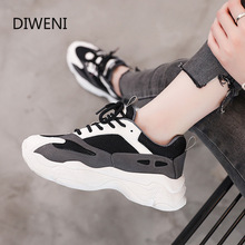 2018 spring beige white leather mesh round toe platform fashion lace up ins hot sale casual designer sneakers women flat shoes 2020 Ins Hot Sale Autumn Fashion Women Casual Shoes Leather Platform Shoes Women Sneakers Ladies White Trainers Chaussure Femme