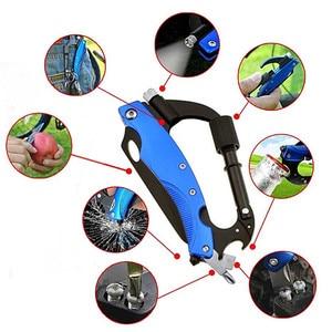 Multifunctional Outdoor Climbing Gear Folding Knife Hiking Survival Pocket Knife Multitool Rock Carabiner Glass Breaker Tools