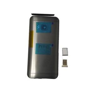 Image 3 - Оригинальный чехол для HTC One M9, чехол с аккумулятором, задняя крышка, задняя крышка, металлическая задняя крышка, верхняя крышка, лоток для sim карт, лоток для SD TF, Боковая кнопка