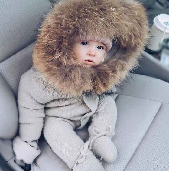 2019 Oklady Baby Boys Girls Clothes Children New Hooded Sweater Knitted One Piece Romper Infant Wear Baby Clothes