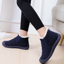 Winter Cotton Shoes Women Men Unisex Fur Warm Fleeces Snow Boots Casual Shoes Solid Anti-skid Waterproof Footwear Loafers Botas women winter walking boots ladies snow boots waterproof anti skid skiing shoes women snow shoes outdoor trekking boots for 40c