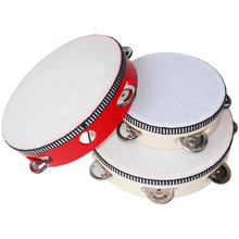 Educational Musical Tambourine Drum for Children Instruments Wooden Precussion Lightweight Kids Durable
