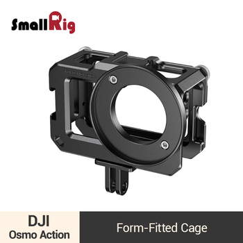 SmallRig Cage for DJI Osmo Action Camera Cage With Two Cold Shoe Mounts (Compatible with Microphone Adapter ) -2475