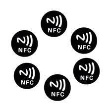 Etiquetas metálicas Ntag213 para NFC, 6 uds., color negro, 28TE