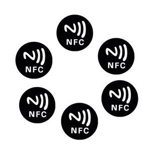 6PCS Black Anti Metal Sticker NFC Ntag213 Tags NTAG 213 Metallic Label Badges 28TE