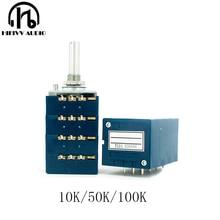 HIFI Japanese original  ALPS 27 type 10K 50K 100K volume potentiometer switch 4 ways hifi power amplifier accessories