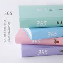 Jianwu bonito dos desenhos animados o 365 dia plano livro cor interior página planejador capa dura caderno presente livro scrapbooking escola suprimentos