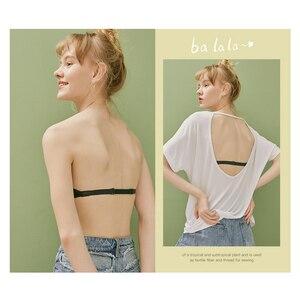 Image 4 - IMBOBO Japanese Style Strapless Bra Half Cup Invisible Underwear Sexy Push Up Bra Off the shoulder dress Underwear Anti skid bra