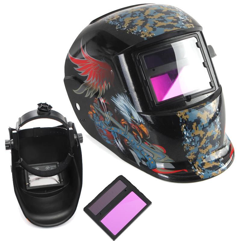 Nowy kask spawalniczy Solar automatyczne przyciemnianie walka szlifowanie Arc Tig Mig maska do spawania szlifowania z regulowanym pałąkiem na głowę