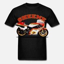 Verão 2019 100% algodão manga curta impresso t camisa de corrida arte barry sheene rg500 corrida motociclista inspirado t camisa