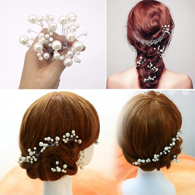 Fashion Hair Clips for Women Girls Flower Crystal Hair Barrette Wedding Bridal Hair Pins Bridesmaid Jewelry Hairwear Hairclips in Women 39 s Hair Accessories from Apparel Accessories