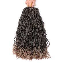 Pervado волосы 18 дюймов Натуральные микро Локи синтетические косички волосы для наращивания черный коричневый Омбре искусственные замки крючком косички волосы