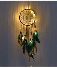 Подвеска «Ловец снов» с кисточками и перьями креативный Бирюзовый