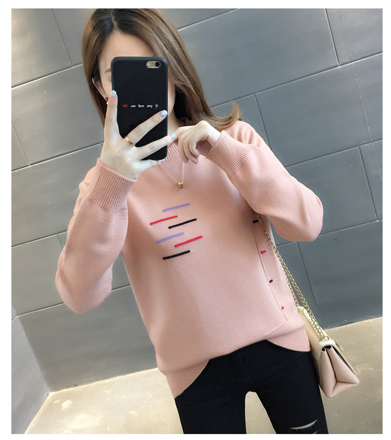 Sweaters women's 19 new fashion Korean loose autumn winter knitting bottoms wear Western clothes 11