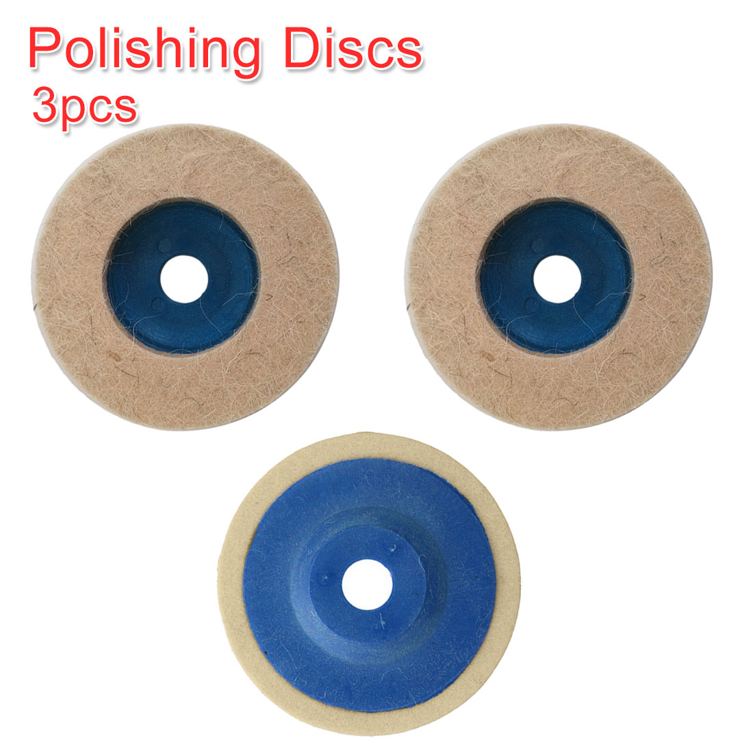 4 Inch 3pcs Wool Polishing Pads Buffing Angle Grinder Wheel Felt Polishing Disc Pad Set 100mm