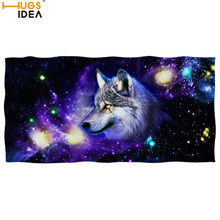 Galaxy Wolf/tiger/horse/skull Print Beach/Bath Microfiber Towel Cool Space Star Animal Dry Face/Hand/hair Towel Spa/gym Blanket(China)