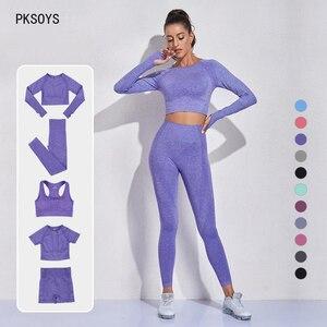 2 pçs sem costura leggings mulheres conjunto de yoga ginásio de fitness roupas de verão roupas de treino feminino conjunto de ternos do esporte