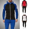 Gestreiften Mode Trainingsanzug Set Männer