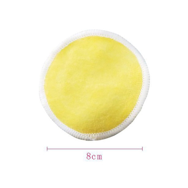 2/5pcs Reusable Bamboo Fiber Makeup Remover Pads  Washable Rounds Cleansing Facial Cotton Make Up Removal Pads Tool 5
