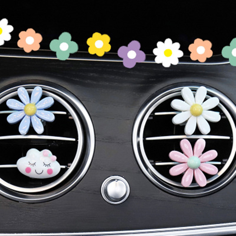 3/6pcs Car Styling Air Outlet Aromatherapy Clip with Car Air Freshener Outlet Perfume Solid Perfume Diffuser Flower Decor Clips