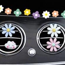 3/6 stücke Auto Styling Air Outlet Aromatherapie Clip mit Auto Lufterfrischer Outlet Parfüm Solide Parfüm Diffusor Blume Decor Clips