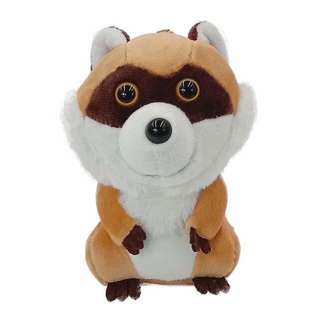 1 pc 13cm Kawaii simulation Little Raccoon Plush Toys Soft Stuffed Animal Cartoon Plush Keychain Bag Pendant Girls Toys Kid gift