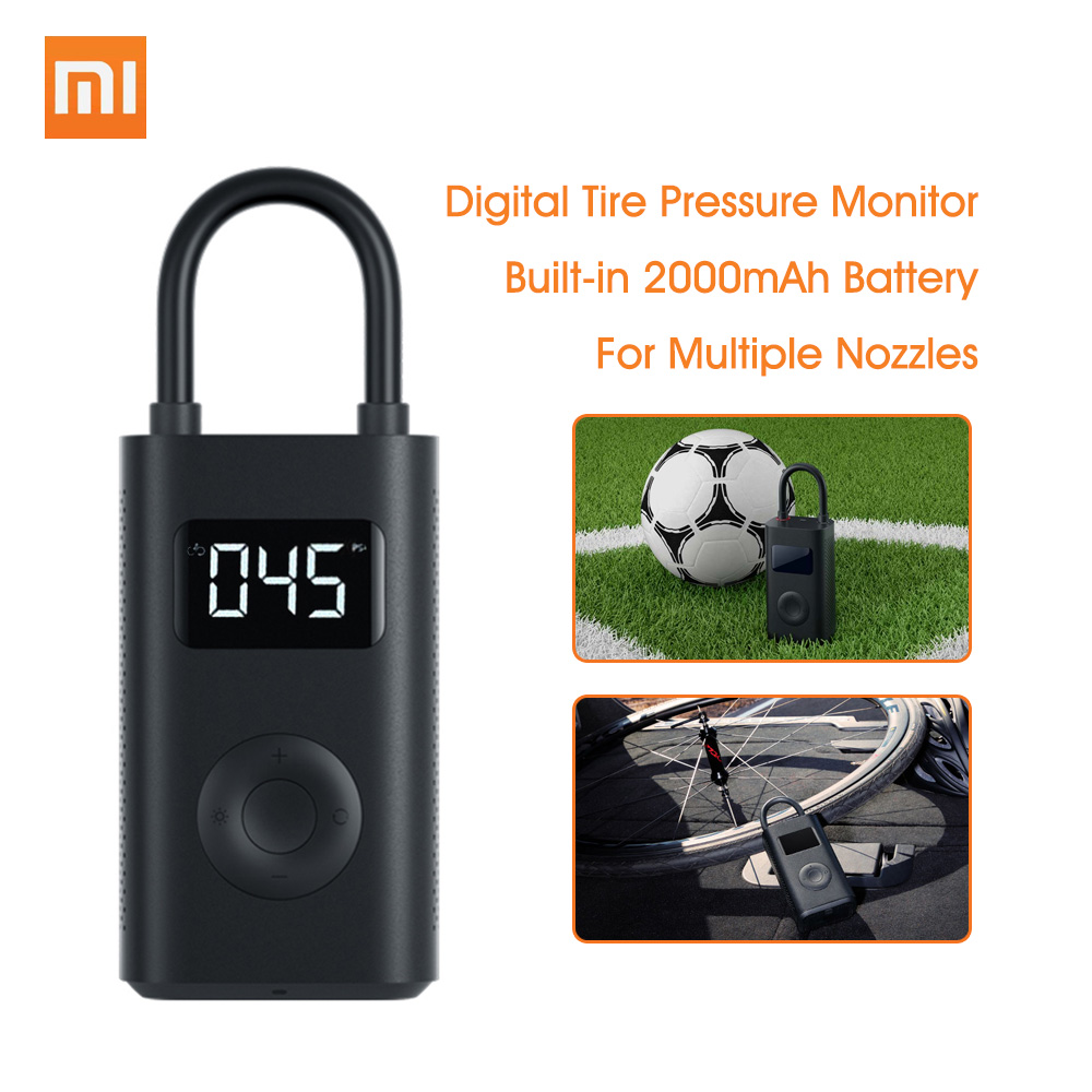 Xiaomi Mijia Портативный Умный Цифровой датчик давления в шинах Электрический насос для надувного велосипеда мотоцикла автомобиля футбола|Смарт-гаджеты|   | АлиЭкспресс