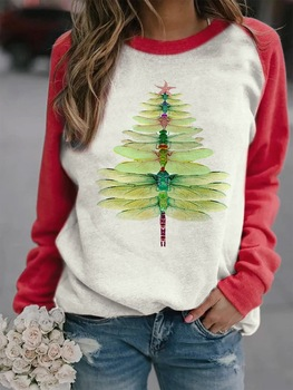 Christmas Tree Dragonfly The Grinch Christmas Pullover Anime Hoodie Winter Clothes Women Sweatshirt