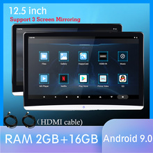 12.5 Inch Android 9.0 Car Headrest Monitor Same Screen 4K 1080P Video IPS MP5 WIFI/Bluetooth/USB/SD/HDMI/FM/Mirror