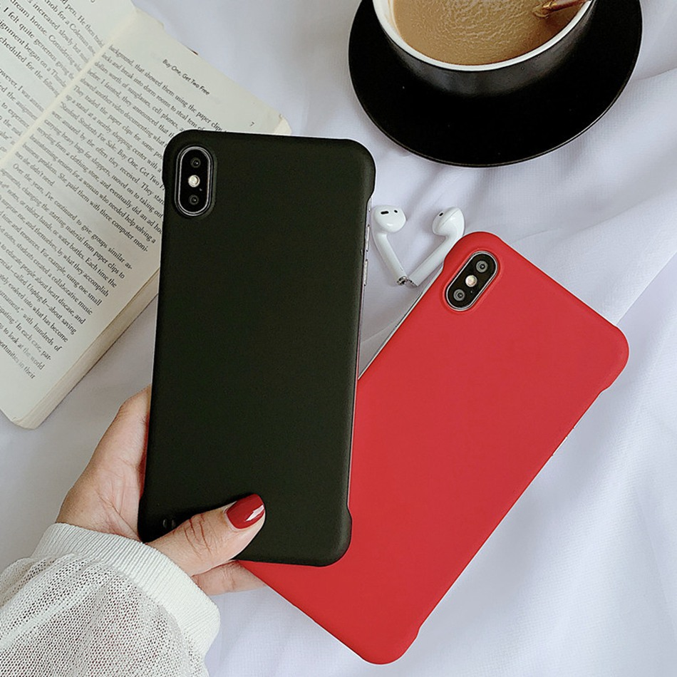 For Samsung S10 10Lite 10 Plus Case Fashion Ultra Thin Rimless Matte Cover For Note 10 A70 <font><b>50</b></font> <font><b>40</b></font> Frameless Hard PC Back Coque image