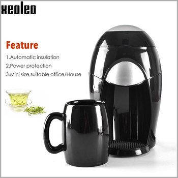 Xeoleo Tea/Coffee breawing machine Mini Coffee maker Espresso Coffee machine American Drip Cafe Automatic insulation Espresso