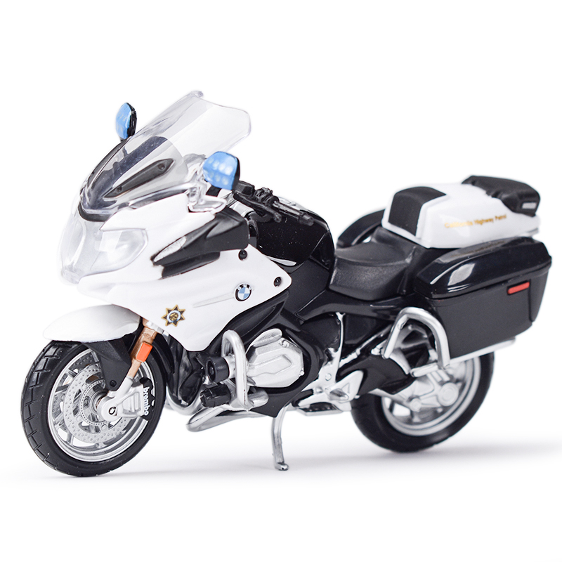 Maisto 1:18 R1200 RT Police Sport Diecast Alloy Motorcycle Model Toy