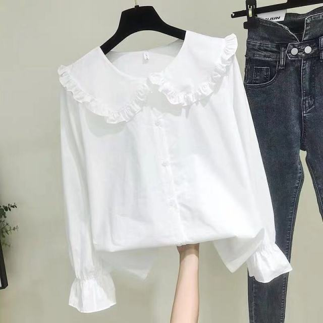 Shirts Women Solid Simple New Arrival Spring Korean Style Chic Trendy Casual Blouses Elegant Vintage Womens Streetwear All-match 6
