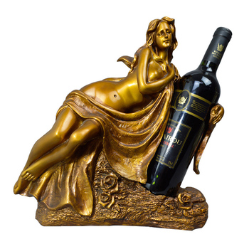 European Beauty Wine Rack Modern Design Resin Figurine For Home Decoration Crafts Sexy Lady Statue Living Room Decor Wine Holder