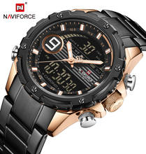 Naviforce военные кварцевые часы мужские модные спортивные с