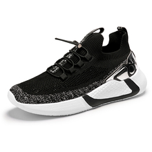 Men Black Running Shoes Slip On Sneakers Breathable Jogging Sports Shoes Sneakers for Male Light Mesh Casual Running Shoes li ning men s light running shoes li ning comfort breathable sneakers urban walk sports shoes acgl005