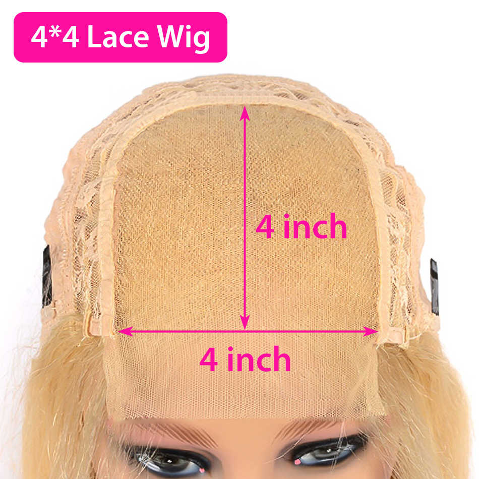 Pelucas de cabello humano HD Transparen 613 rubio con onda de encaje profunda Frontal para mujeres Peluca de pelo corto brasileño Bob Remy Frontal con agua rizada