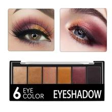 Eyeshadow-Palette Palete-Matt-Powder Matte Cosmetics Waterproof Fashion 6-Colors Smoky