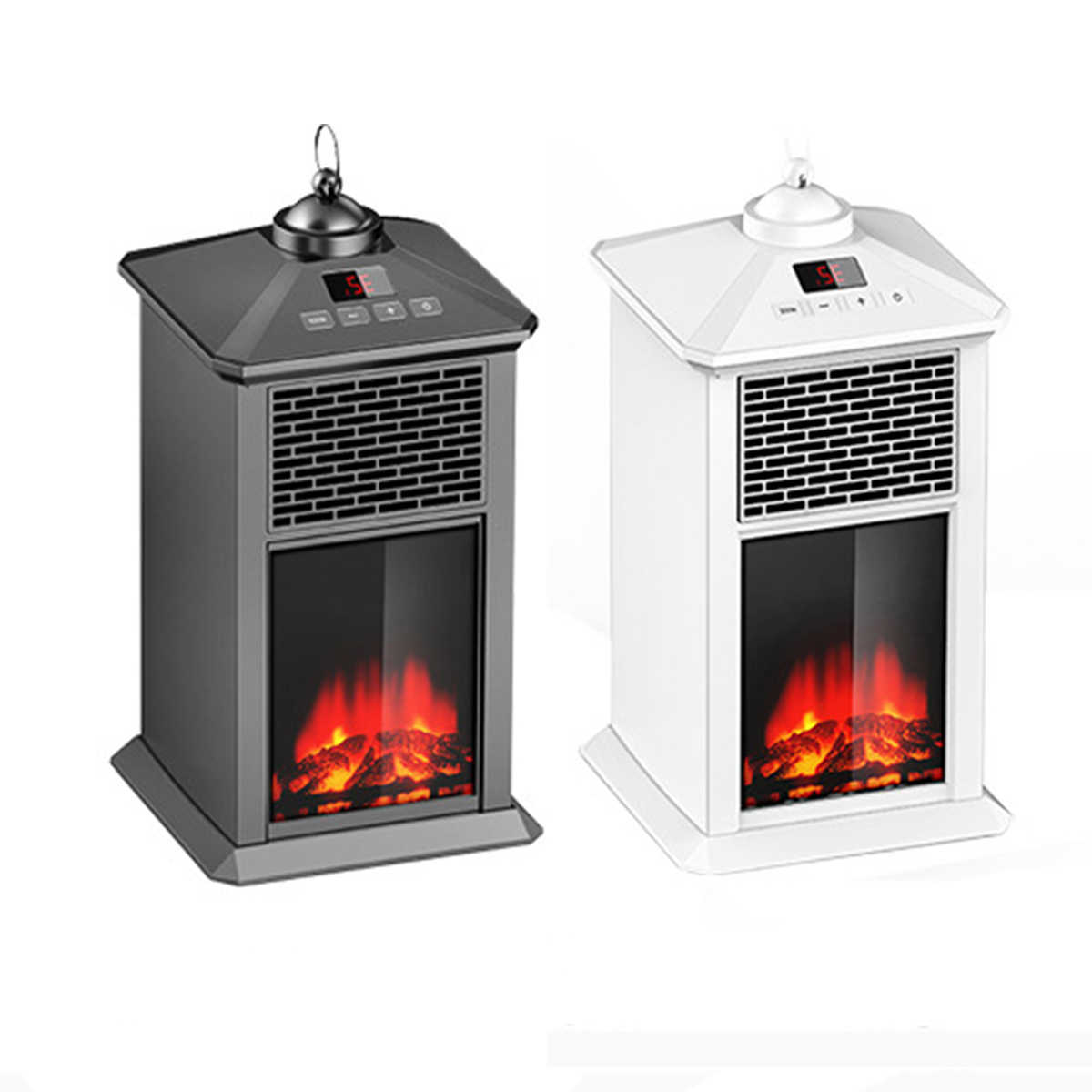 800w Electric Fireplace Heater Mini Portable Warmer For Indoor